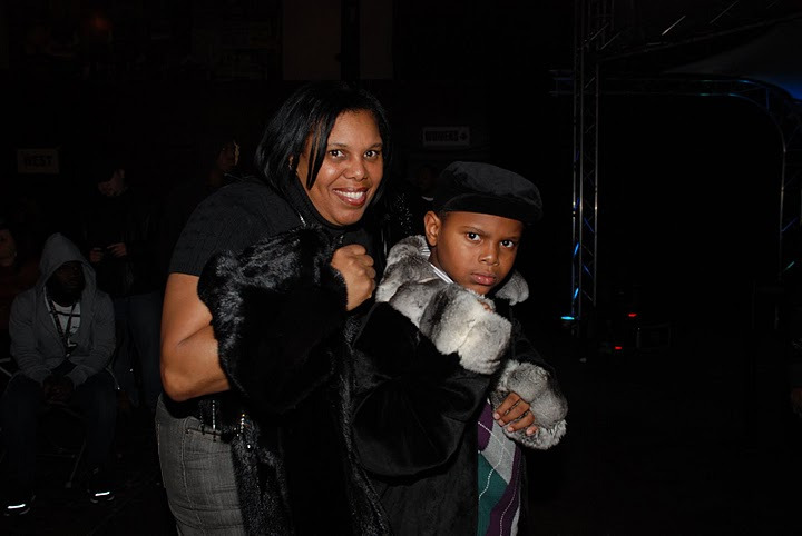 "Renee""The Boxing Diva"" Aiken  and son christion"
