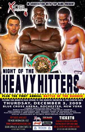 Heavy hitters fight poster
