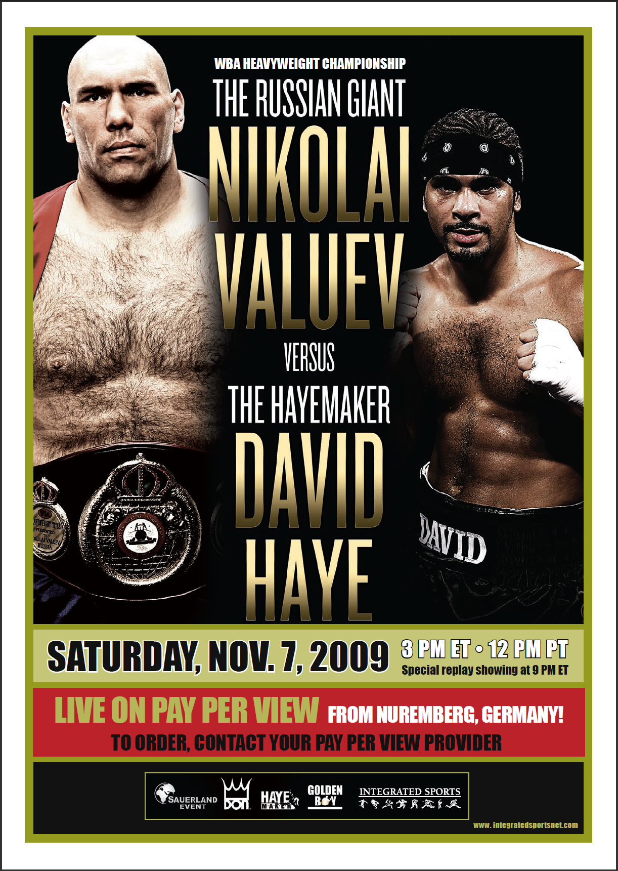 Valuez vs Haye fight poster