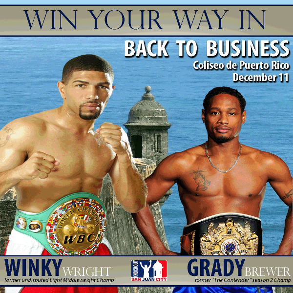 Winky Wright vs Brewer fight poster