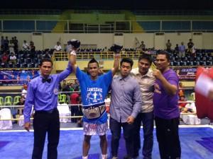 WBF International Super Flyweight champion Daryl Basadre