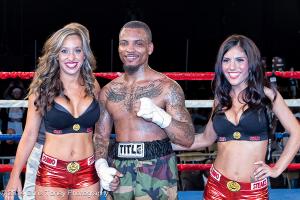 (L-R) Terry Bardaji, a victorious David Gonzales and Samantha Brooke.
