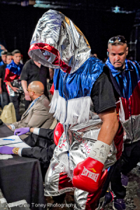 Santiago on his way to the ring.